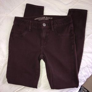 AMERICAN EAGLE OUTFITTERS Plum Jeggings